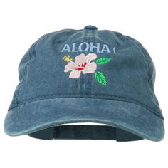 Hawaii Flower Aloha Embroidered Washed Cap by e4Hats on Etsy https://www.etsy.com/listing/261105030/hawaii-flower-aloha-embroidered-washed