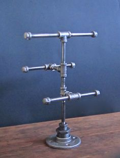 Industrial Pipe 3 Tier Jewelry Stand by IndustrialHomeBazaar