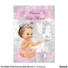 Snowflake Pink Princess Baby Shower Invite by zizzago.com