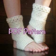 PATTERN:  Thick Yoga Socks, Dance, Pilates, Ballet, Leg Warmers, easy crochet, pdf, ankle warmers, slouchy, dancer, Permission to Sell. $4.99, via Etsy.