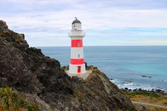 Cape Palliser lighthouse, east coast, North Island, New Zealand.