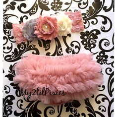 Baby Girl Shabby Chic Set- Ruffle Bum Baby Bloomer, Inspired Vintage Shabby Chic Frayed Flower headband, Lace headband, Vintage pink, ruffl by my2lilpixies on Etsy https://www.etsy.com/listing/219015947/baby-girl-shabby-chic-set-ruffle-bum