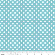 Small Dots Aqua for Riley Blake #Rileyblake #quiltingfabric