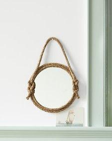 diy rope mirror:  Seaside Inspired - Specializing in Modern Beach Decor