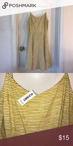 Old navy yellow striped dress