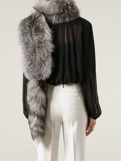 White Fox Fur Stole Marni lLcuc