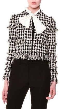 MSGM Tweed Houndstooth Jacket | #Chic Only #Glamour Always