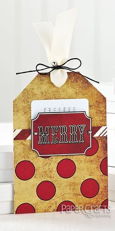 Merry Christmas Gift Card Tag Throwback Thursday: Gift Card Sketch for Making Cards from Card Ideas for Paper Crafters