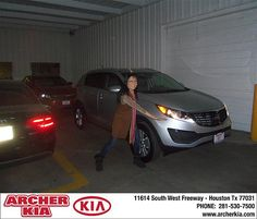 Congratulations to Yvonne Wang on the 2013 Kia SPORTAGE