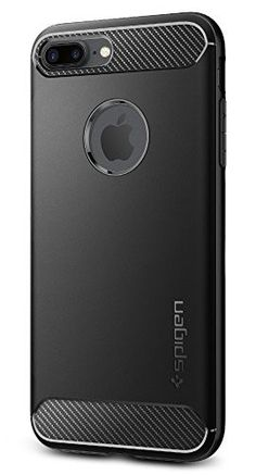 80dbc49906a3 Spigen Rugged Armor iPhone 7 Plus Case with Resilient Shock Absorption and  Carbon Fiber Design for