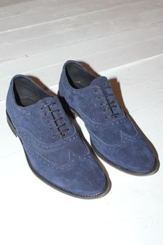 QSP Wing Tip Shoe in Blue Velour – No.6 Daily