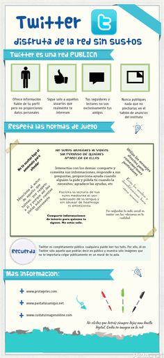 Twitter sin sustos (para adolescentes) #infografia #infographic #socialmedia