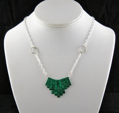 Chevron Inspired Malachite Necklace.  One of a Kind!! on Etsy, $55.95