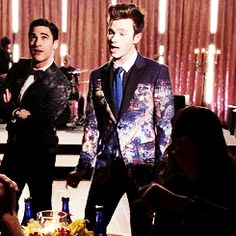 """It took me a couple of watches to zero in on this but I love how Blaine cocks his head while Kurt's singing and then breaks into that HUGE smile at the """"I'mma like what's underneath them"""" line.  I LOVE it so much!!!!!"""