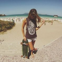 Love skateboarding and the beach