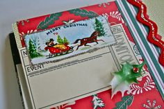 A page ready for memories using the Altered Book Christmas Kit!