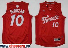 c2c151f92 Men s Toronto Raptors  10 DeMar DeRozan adidas Red 2016 Christmas Day  Stitched NBA Swingman Jersey