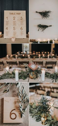 Earthy + bohemian wedding reception decor with modern details | Image by Kindred Wedding Storytellers