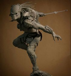 The master AVP:R Wolf predator maquette from ADI Studios @tom_woodruffjr & @alec_gillis created for @sideshowcollectibles. There's so much detail on this guy its such a killer piece! -- #ADI #amalgamateddynamics #alecgillis #tomwoodruffjr #sideshowcollectibles #alien #predator #avp #maquette #sculpt #sculpture