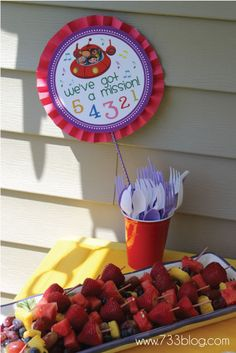 Love the fruit kabobs!