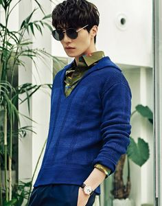 Vibrant sportswear, contemporary tailoring and exceptional accessories—actor Lee Dong Wook, 이동욱, takes a star turn in pieces from the Ferragamo Spring 2017 Men's collection in the March issue of Arena Homme Plus Korea. Hot Korean Guys, Korean Men, Asian Actors, Korean Actors, Korean Dramas, King Kong, Lee Dong Wook Wallpaper, Lee Dong Wok, Gumiho
