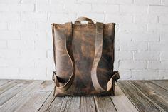 No.42 | 'Vintage Brown' Leather Backpack