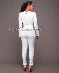 Chic Couture Online - Myrtle White Gold Chain Bandage Two Piece Pants Set, $200.00 (http://www.chiccoutureonline.com/myrtle-white-gold-chain-bandage-two-piece-pants-set/)