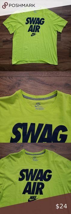Nike Shirt Nike Dri fit shirt Lightly worn Lime green, white