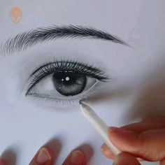 Eye Pencil Drawing, Easy Pencil Drawings, Realistic Eye Drawing, Art Drawings Sketches Simple, Eye Drawings, Eye Brow Drawing, Drawing Of An Eye, Colored Pencil Drawings, Shading Drawing