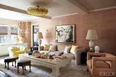 Kelly Wearstler Interior Design Living Room - Cameron Diaz Manhattan Apartment - ELLE DECOR