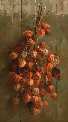 """Marius van Dokkum (Dutch, born 1957) """"Little Chines lanterns"""""""