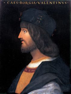 Cesare Borgia, the face of the westernized Christ.
