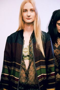Charlotte+Lindvig+(Ford)+backstage+at+Dries+Van+Noten+SS15