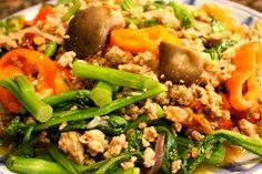 Gai Lan - Chinese broccoli stir fry recipe.