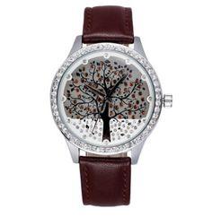 Dámské hodinky se zirkony strom hnědé – dámské hodinky Na tento produkt se  vztahuje nejen zajímavá sleva a2081e8b56d