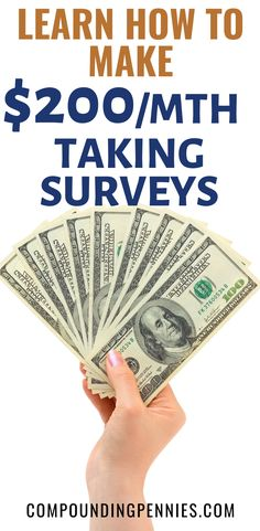 How To Get Paid To Take Surveys | Do you want to make money on the side by taking surveys? Not sure what the best survey sites are? Click through to learn how to make $1,000 a year taking paid surveys by using the best survey sites! #MakeMoney #MakeMoneyOnline #PersonalFinance Best Online Survey Sites, Online Surveys For Money, Surveys For Cash, Survey Sites That Pay, Take Surveys, Make Money Online, Make Money Today, Way To Make Money, Earn Money From Home