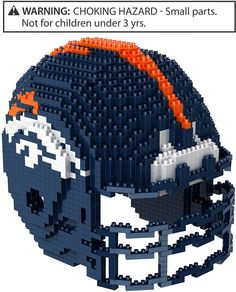 Take your love for football and puzzles to a whole new level with this officially licensed Denver Broncos Helmet Puzzle. This set contains building blocks to build a replica Denver Broncos helmet. Denver Broncos Helmet, Broncos Fans, Nfl Jerseys, Sports Fan Shop, Nfl Shop, Legos, Mini, 3 D, Ebay