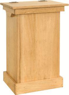 Trash bin Solid Wood Lift Up Top Amish Made Unfinished Wood, Wood Kitchen, Unfinished Wood, Pine Furniture, Solid Pine Furniture, Trash Bins, Wood Crafts Diy, Unfinished Wood Furniture, Amish Furniture