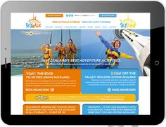 Skywalk SkyJump full website designed by TimeZoneOne