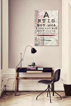 Art Is... Canvas Art (plus I really like that desk!)