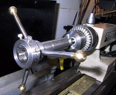 Tailstock Tap and Die Holder by Allan Dobler -- Homemade tailstock tap and die holder fabricated from drill rod and cold rolled steel. Arbor is intended to accommodate modified commercial tap wrenches. http://www.homemadetools.net/homemade-tailstock-tap-and-die-holder