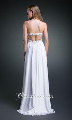 Bianco Impero Pavimento Senza Spalline Vestito da Sera ACM034 [ACM034] - €125.00 :