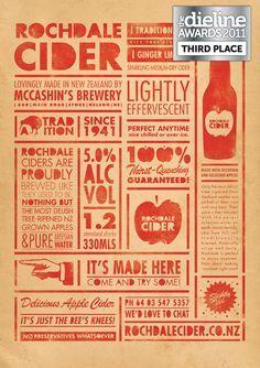Rochdale Cider #cider #infographic