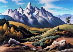 THOMAS HART BENTON http://www.widewalls.ch/artist/thomas-hart-benton/ #murals #painting #realism