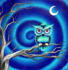 owl by Elizabeth Letourneau, aka The Happy Artist