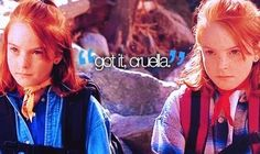 "ahaha parent trap, ""got it cruela"" with that weird blonde lady like ""behave children , behave u lil brats """