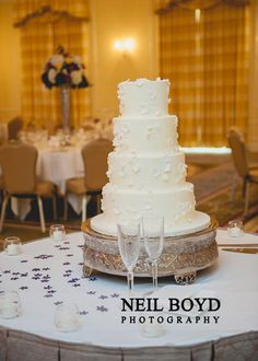 Wedding Cake.  Ambrosia Cake Creations.  Raleigh weddings.  Neil Boyd Photography