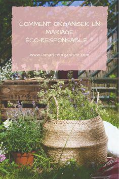 Comment organiser un mariage éco-responsable ? Découvrez des outils et des astuces sur le blog La mariée organisée.