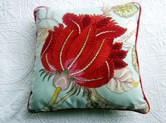 Darjeeling Spring Cushion 35 x 35 by NewhookDesign on Etsy, $42.00