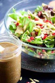 Ensalada de otoño con vinagreta de balsámico y pasas Pasta Salad, Ethnic Recipes, Food, Fall Salad, Raisin, Healthy Recipes, Good Night, Crab Pasta Salad, Essen
